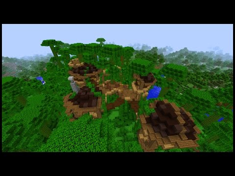 How to make a Minecraft JUNGLE Town!