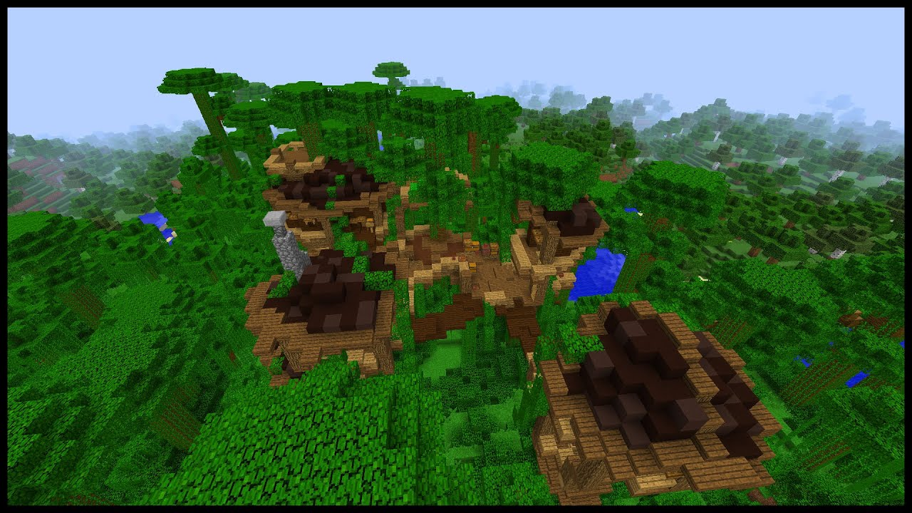 How to make a minecraft jungle town youtube for Jungle house music