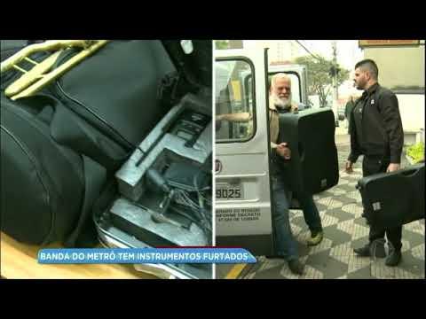 Banda do metrô de SP tem instrumentos furtados