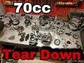 70cc Engine Tear Down Timelapse | Moto Addictions