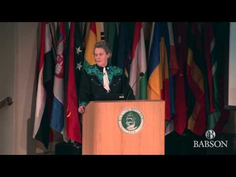 Dr. Temple Grandin speaks at Babson College