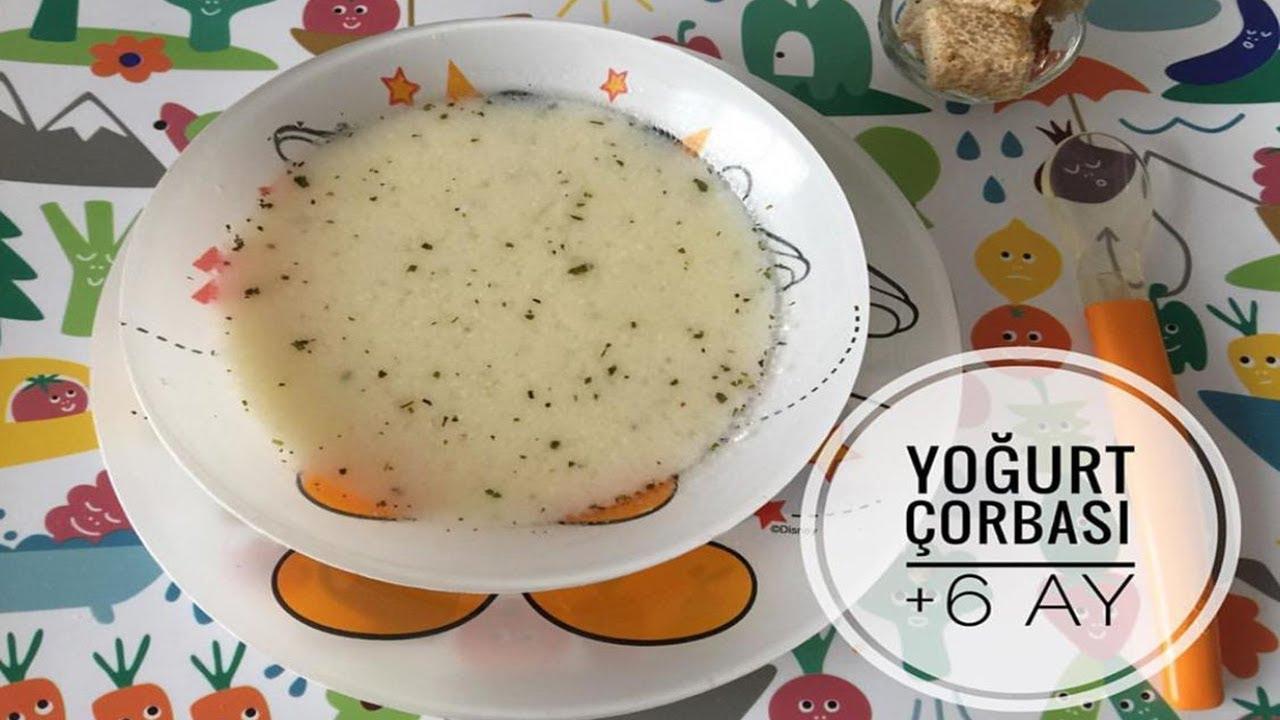 Bebekler Icin Yogurt Corbasi 6 Ay Bebek Corba Tarifleri Youtube