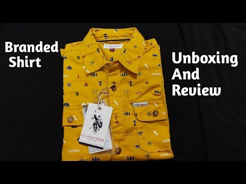 U.S. Polo Assn. /Mustard Shirt / UNBOXING AND REVIEW From Amazon Shopping