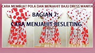 Cara Membuat Pola Dan Menjahit Baju Dress Wanita BAGIAN 7