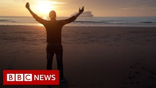 Migrant's year-long attempt to cross the English Channel - BBC News