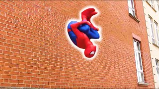 - SPIDERMAN Fights Crime in Real Life Parkour, Flips Kicks