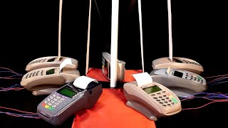 US National Anthem on 7 Credit Card Machines