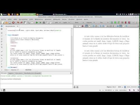 Modificar el Tamaño de la Letra en LaTeX
