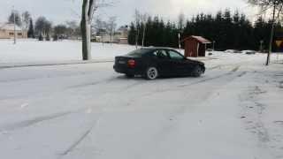 BMW 528i Pierwszy śnieg