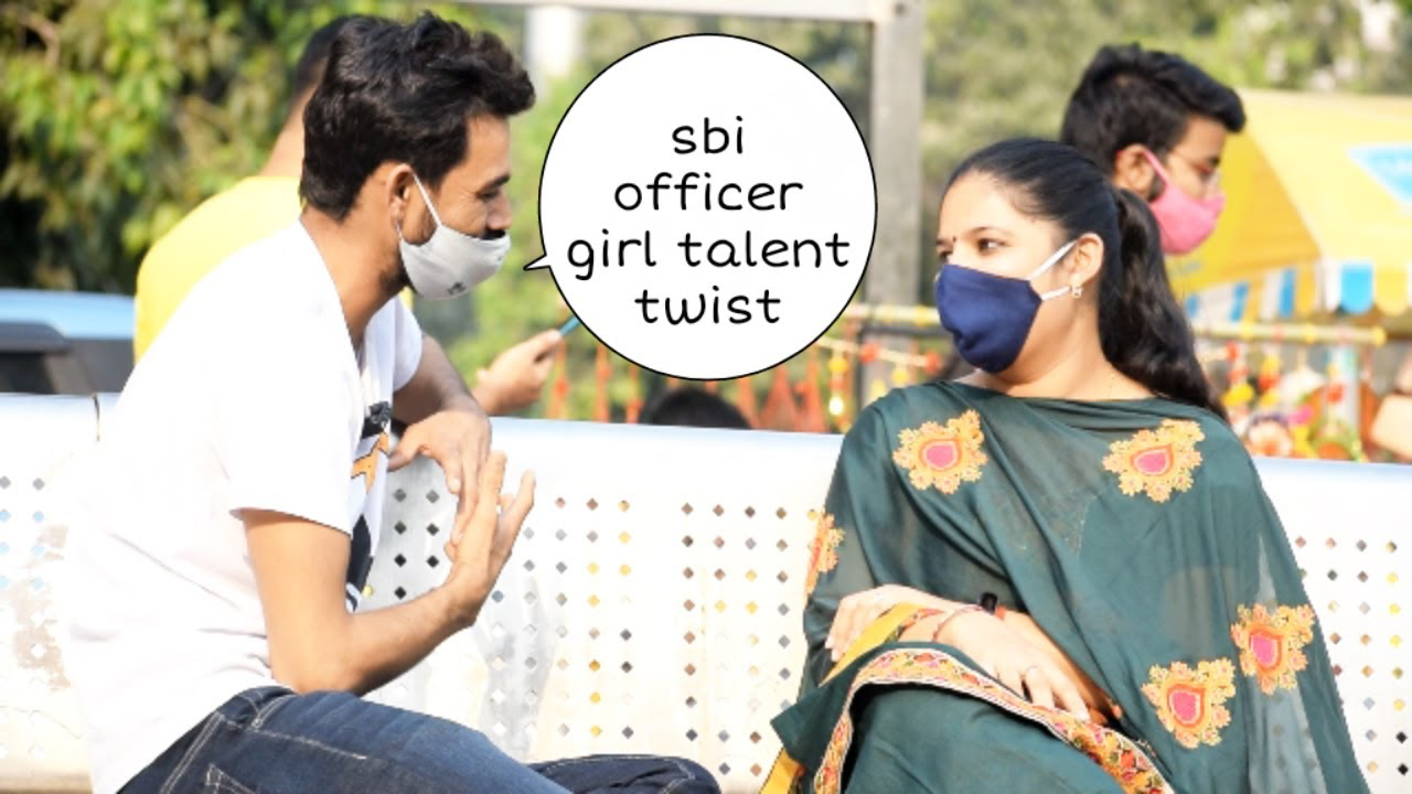 Sbi officer girl talent twist prank | Vivek golden