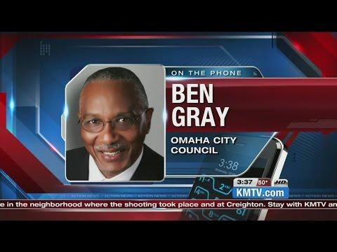 Omaha Councilman Ben Gray visited scene where officer, suspect shot
