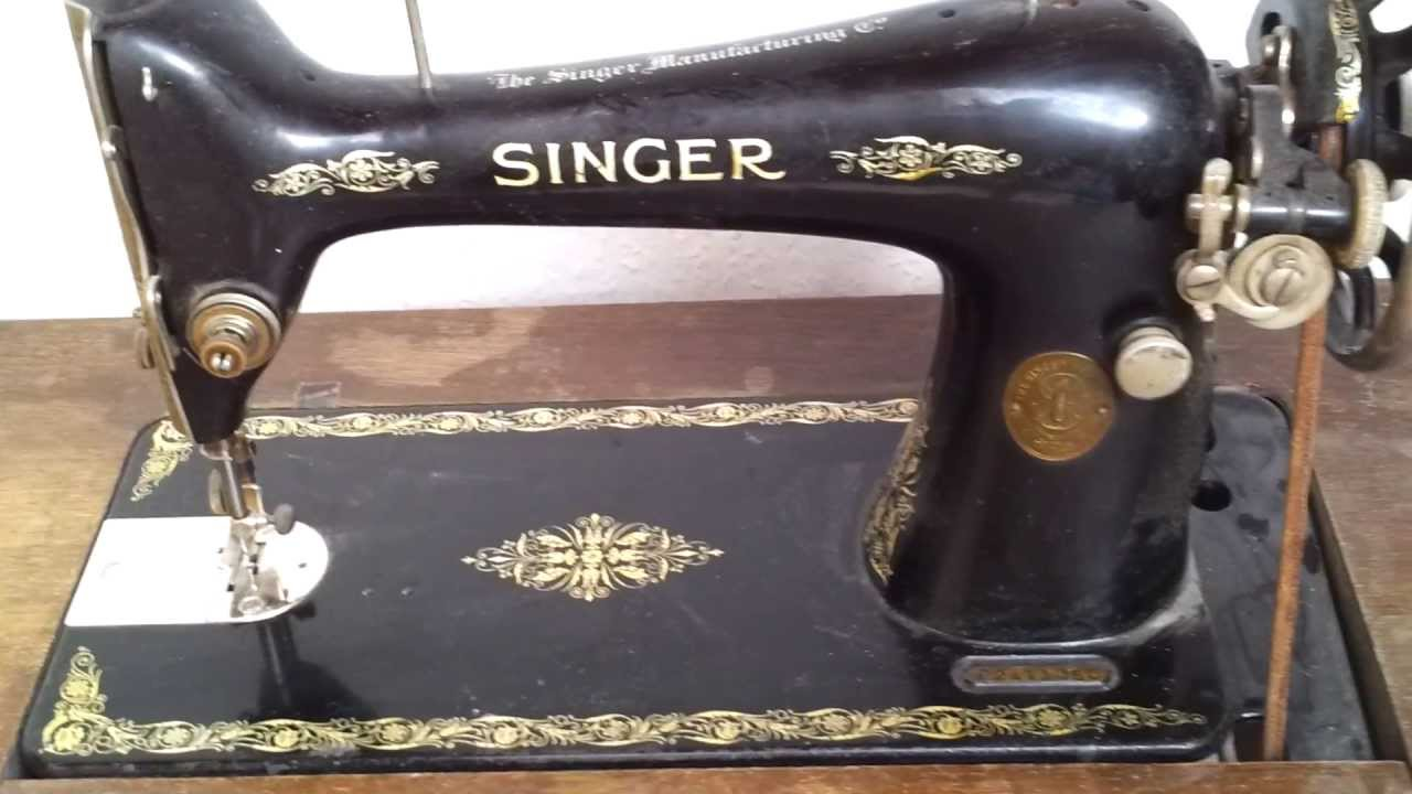 alte singer n hmaschine klasse 66 old sewing machine youtube. Black Bedroom Furniture Sets. Home Design Ideas