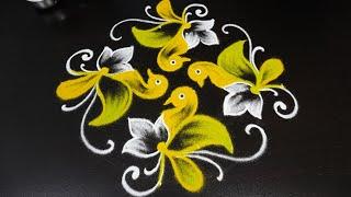 Kute Birds Kolam Designs With 8x8 Interlaced Dots | Simple Beginners Rangoli | Muggulu By Jayanthi G