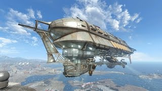 What Happens if We Fly Up to the Prydwen When it First Arrives in Fallout 4? Bonus: Airport Arrival!