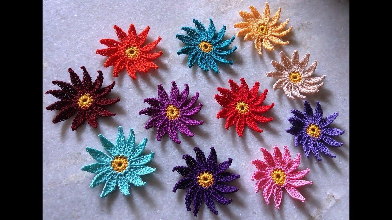 How to crochet easy pointed petal daisy flower youtube how to crochet easy pointed petal daisy flower izmirmasajfo