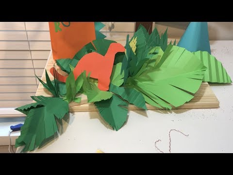 DIY Jungle Leaf Centerpieces| How to make Jungle Leaves