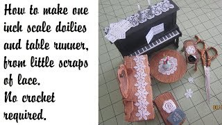 Doilies diy miniature no crochet needed
