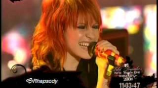 Paramore - Crush Crush Crush - MTV New Years Eve 2008