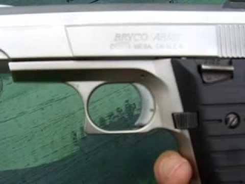 "Jennings nine"" 9mm semi-auto pistol by bryco of costa mesa, ca."