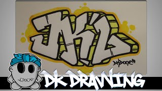 How to draw graffiti  - Graffiti Letters JKL step by step