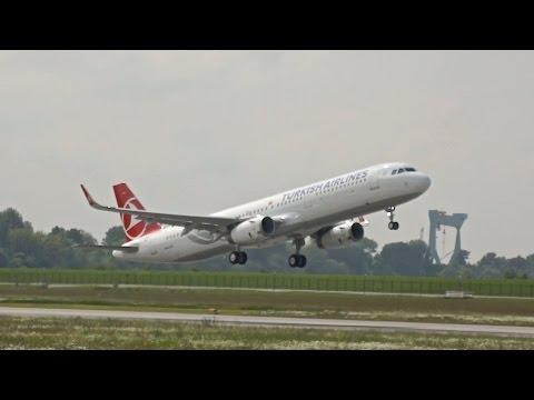 Turkish Airlines Airbus A321-231SL D-AVXQ / TC-JTK departure XFW Airbus Hamburg