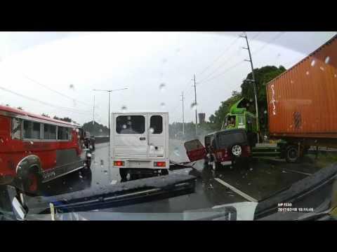 NLEX North bound Accident   Feb 18, 2017