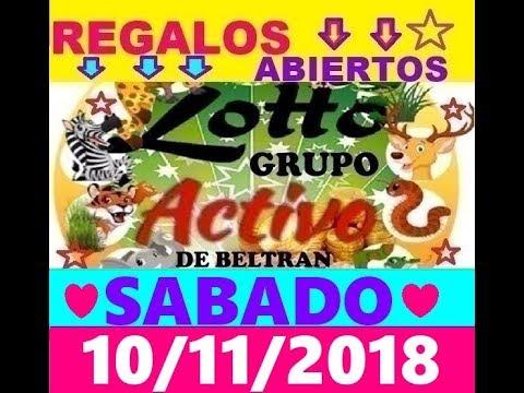LOTTO ACTIVO Y LA GRANJITA DATOS FIJOS 10/11/2018