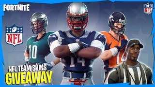 [NEW NFL FOOTBALL SKINS] || Free Skin Giveaway!!! || Fortnite Battle Royale
