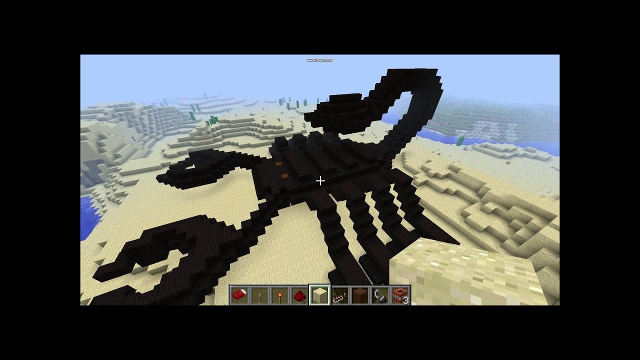 Скорпион в майнкрафте постройка