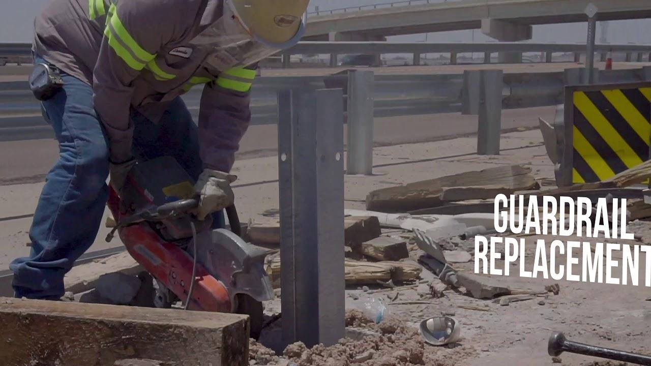Pavement Marking & Guardrail Service - Bowen Industrial Contractors