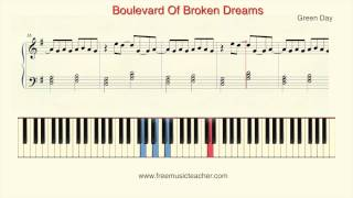 "How To Play Piano: Green Day ""Boulevard Of Broken Dreams"" Piano Tutorial by Ramin Yousefi"