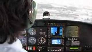 Diamond DA-40 Landing RWY 34 LLHA
