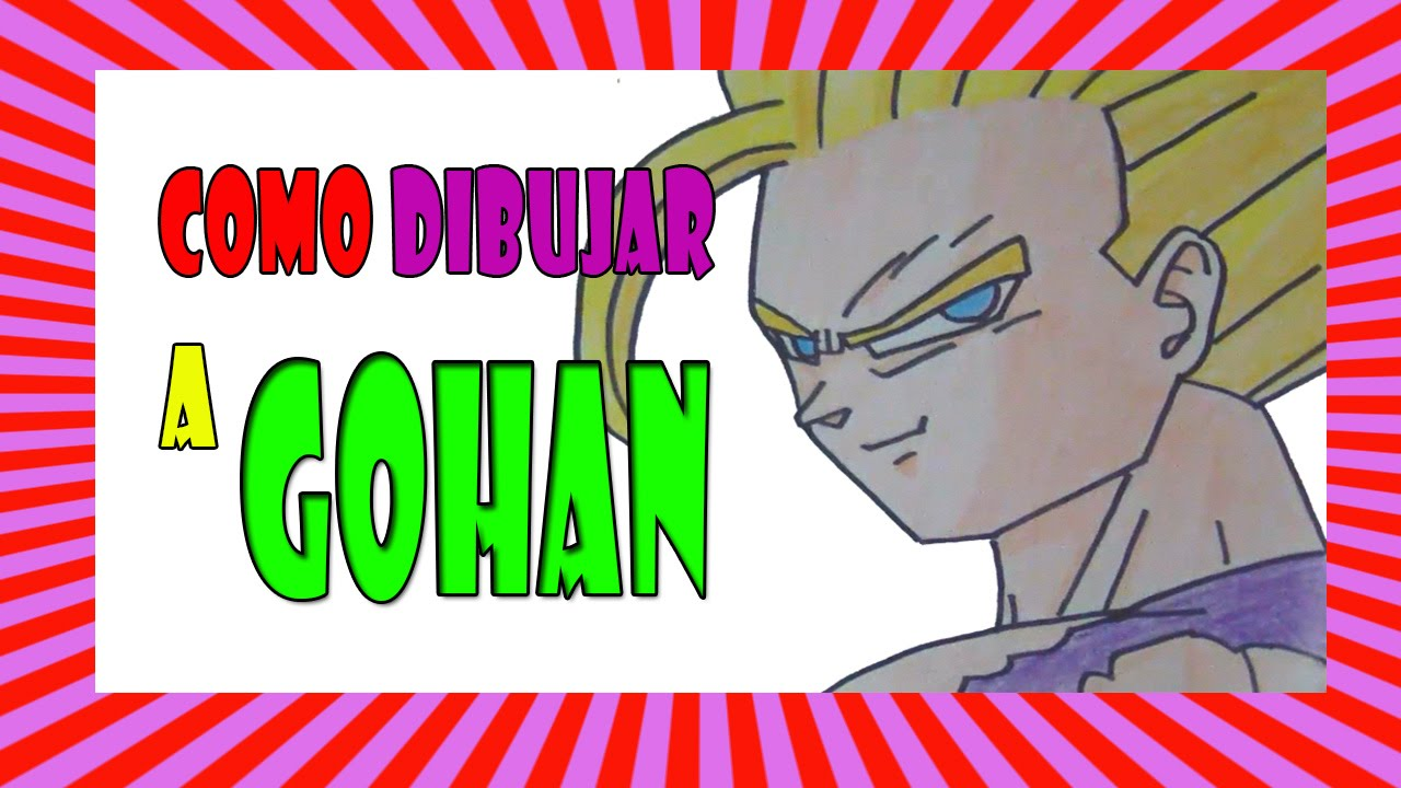 how to draw gohan ssj2 step by step