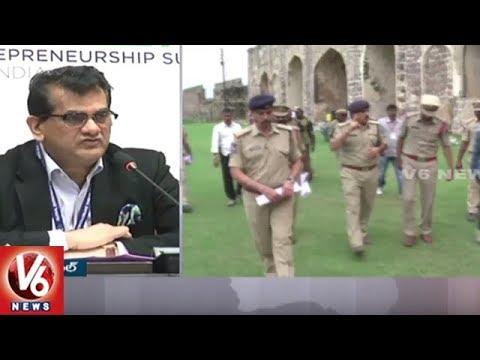 NITI Aayog CEO Amitabh Kant Speech In Global Entrepreneurship Summit Press Meet | V6 News