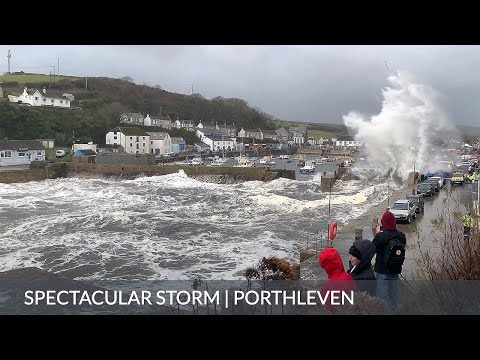 Porthleven Storm | Massive waves and spectacular stormy seas at Porthleven, Cornwall, UK