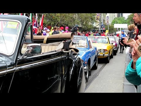Vintage / classic cars rallying in Melbourne Australia