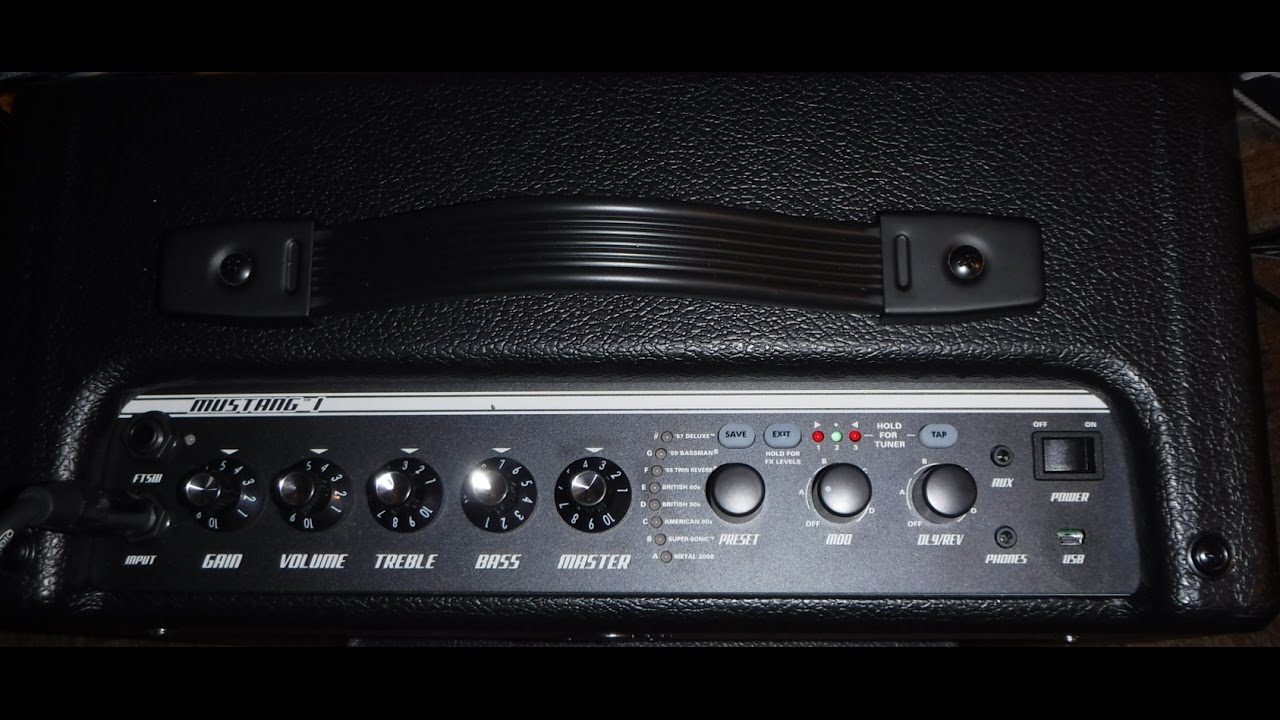 fender mustang 1 v2 20 watt amp demo youtube. Black Bedroom Furniture Sets. Home Design Ideas
