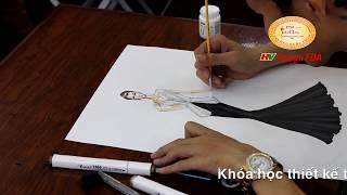 Học thiết kế thời trang - Vẽ phác thảo
