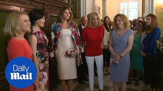 Melania Trump tours Sicily with with the fellow G7 spouses - Daily Mail