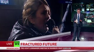 Freed ex-PM Tymoshenko addresses crowd in Kiev