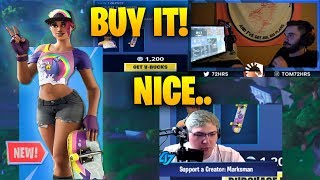 Streamers react to new BEACH BOMBER skin! Fortnite funny & best moments!