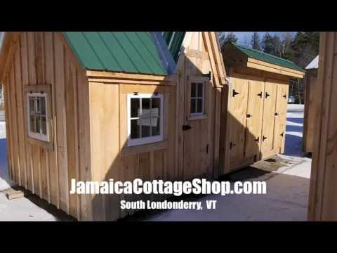 A Tiny Art Studio Shed-Cabin Model in Vermont- Jamaica Cottage Shop