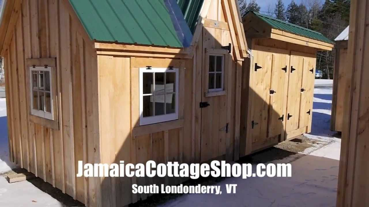 A Tiny Art Studio Shed Cabin Model in Vermont Jamaica Cottage Shop