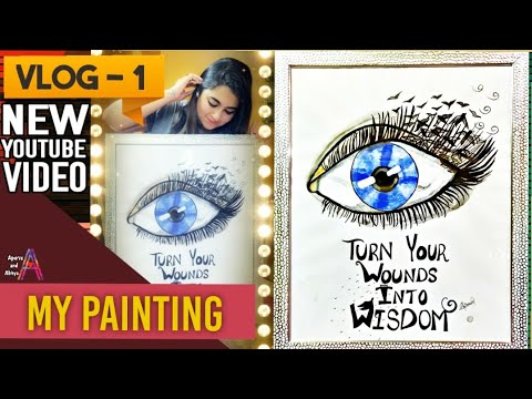 VLOG -1 Sharing My creativity, how to draw Sketch ,handmade Painting tutorial for beginners easy DIY thumbnail