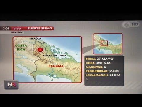 Earthquake In Panama Today, Felt In Costa Rica 5.6 Magnitude -  (en Español) May 27, 2013