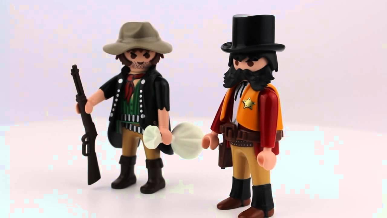 PLAYMOBIL Duo Pack Sheriff Und Bandit YouTube - Minecraft western hauser