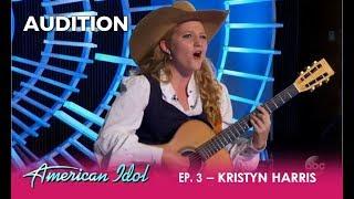 Kristyn Harris: Texas Cowgirl With SERIOUS Yodeling Skills! | American Idol 2018