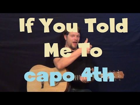 If You Told Me To (Hunter Hayes) Easy Strum Guitar Lesson How to Play Tutorial