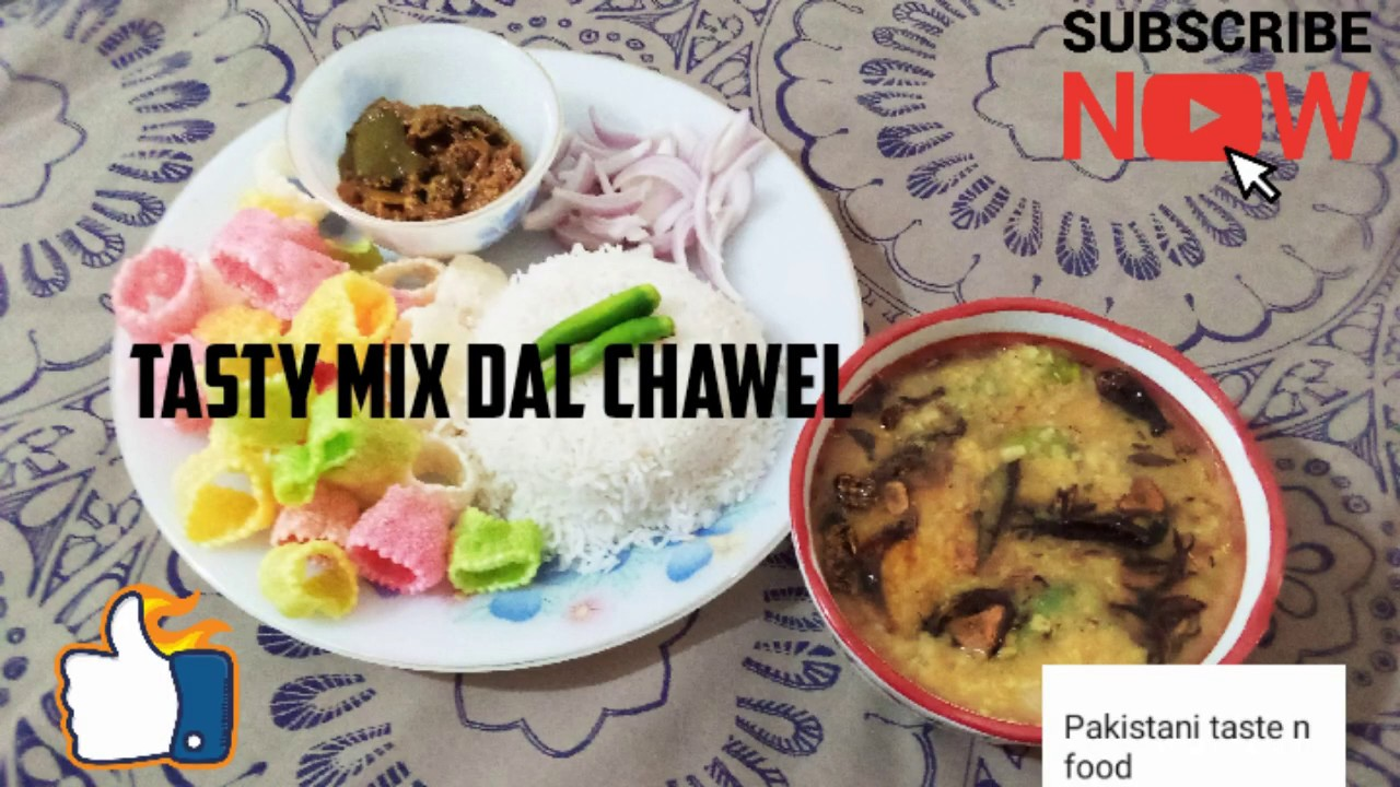 Traditional daal chawal with achar,papar and onion.