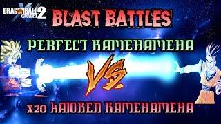 Blast Battles- Perfect Kamehameha Vs X20 Kaioken Kamehameha- Xenoverse 2